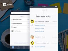 Invision Mobile App Concept by Valik Boyev for Heyllow