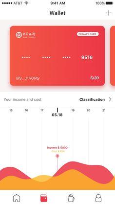 jpg by Jih : Wallet Web Design, App Ui Design, User Interface Design, Design Thinking, Ui Design Mobile, App Background, Budget App, App Design Inspiration, Application Design