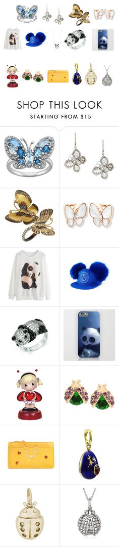 """Lady-Animal-Fashion-Women"" by ibur-7snowflakes ❤ liked on Polyvore featuring Saqqara, Annoushka, Kevin Jewelers, Precious Moments, Betsey Johnson, Charlotte Olympia, Rembrandt Charms and La Preciosa"