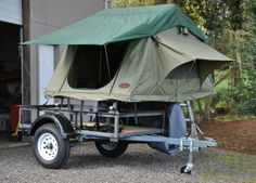 """Have a utility trailer and thinking about budget friendly ways to upgrade from sleeping on the ground?  Make yourself a """"Utilitarian"""", convert your utility trailer into a multi-purpose Tent Topped Camping Trailer with a Top-Tent.com Tent Units. Here a thread going on Tventuring with examples and ideas http://tventuring.com/trailerforum/thread-111.html"""