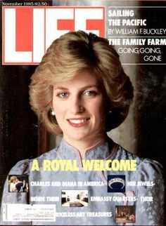 """Princess Diana ~ Nov. 1, 1985 issue ~ Old Life Magazines ~ Click image to purchase. Enter """"pinterest"""" at checkout for a 12% discount."""