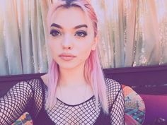 """[ FC: Rena Lovelis ]: """"Hi, I'm Rena. I'm 18 years old and single. Nia is my older sister. We're both in a band called Hey Violet. I'm the lead singer. I like photography, music and doing my makeup. I can be pretty weird a little shy, but whatever. Anyways, intro?"""""""