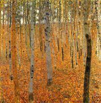 Gustav Klimt Beech Forest 1 Print