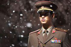 """Kim Soo Hyun as Lieutenant Won Ryu Hwan in """"Secretly Greatly"""" movie"""