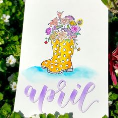 """a l e x on Instagram: """"April showers ☔️ bring may flowers - #bulletjournalcoverpage #bulletjournal #bulletjournaling #bulletjournalnewbie #journaling…"""""""
