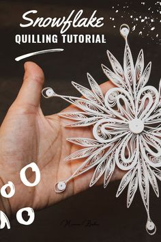 Quilling Tutorial: Paper Snowflake Icy Flower — Visibility Coaching for Entrepreneurs Paper Quilling For Beginners, Paper Quilling Tutorial, Paper Quilling Patterns, Quilling Techniques, Paper Snowflake Patterns, Neli Quilling, Quilling Paper Craft, Paper Christmas Ornaments, Snowflake Ornaments