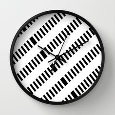 Buy Pattern black and white 1 Wall Clock by Christine baessler. Worldwide shipping available at Society6.com. Just one of millions of high quality products available.