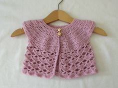 This tutorial will show you how to crochet an easy lace baby cardigan / sweater. This cardigan is suitable for beginners. For size 0 - 3 months use a 4mm cro...