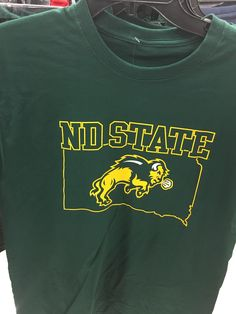 This North Dakota State t-shirt has the state of South Dakota in the background. You had one job!