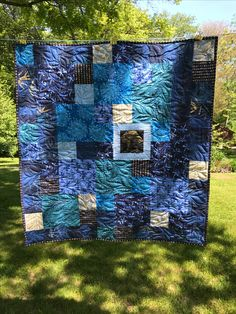 Quilt made by my sister, Janet, quilted by me.