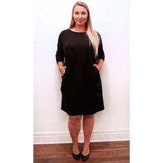 This chic black silk @eileenfisherny pocket dress is a great spring #LBD, change the look with a scarf or some statement jewellery!  #chic #spring #hellospring #dressup #silk #pockets #plussize #plussizefashion #plussizestyle #psfashion #psstyle #psblogger #fatshion #effyourbeautystandards #honormycurves #curves #curvy #torontofashion #primaala #beautyislimitless #plussizeootd #psootd #curvesarein #beautybeyondsize #lovetheskinyourein