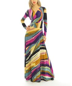 Look at this Purple Abstract Convertible Maxi Dress - Women on #zulily today!