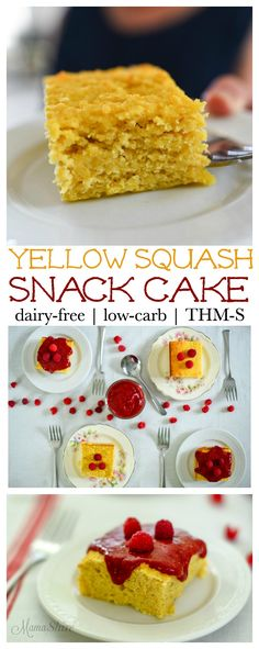 Yellow Squash Snack Cake. Yellow squash makes this snack cake moist and delicious! Gluten-free, Grain-free option, Dairy-free,…