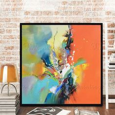 Original acrylic Abstract paintings on canvas wall art pictures for living room home decor gold blue orange thick texture quadros decoracion Modern Oil Painting, Abstract Paintings, Flower Painting Canvas, Funky Art, Wall Art Pictures, Abstract Flowers, Canvas Wall Art, Blue Painting, Canvas Paintings