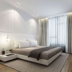 ONG&ONG offers a comprehensive and integrated approach to design that encompasses urban planning, architecture, landscape, interior, lighting and brand engagement. Home Room Design, Modern Bedroom Design, Master Bedroom Design, Home Decor Bedroom, Home Interior, Interior Design, Suites, Minimalist Bedroom, Living Room Modern