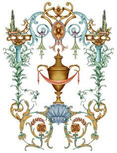 Baroque Decor, Black And White Prints, Future Fashion, Pattern Design, Alphabet, Christmas Ornaments, Holiday Decor, Floral, Flowers
