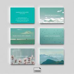 Cartão de visita para psicólogos e psiquiatras.  É só editar os dados e está pronto o seu novo cartão de visita!