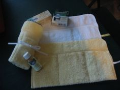 travel kits: They are made out of washcloths and so quick and simple to make! We are filling them with things we know they will use such as shampoo, toothpaste and dental floss, but there are so many possibilities!