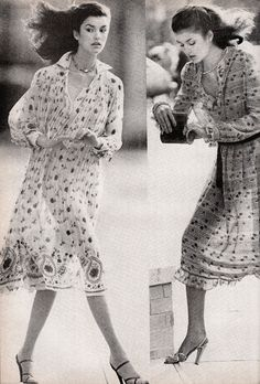 Janice Dickenson Frances Henaghan,  Vogue - January 1978,  Photographed by Mike Reinhardt