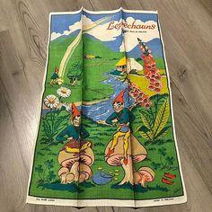 Irish Spice Linen Tea Towel Leprechauns Fallani & Collins Ireland Set of 2 New