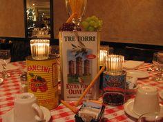 italian table decorations - My Web Value Italian Table Decorations, Hall Decorations, Italian Restaurant Decor, Italian Restaurants, Restaurant Ideas, Italian Themed Parties, Italian Bistro, Italian Buffet, Italian Style