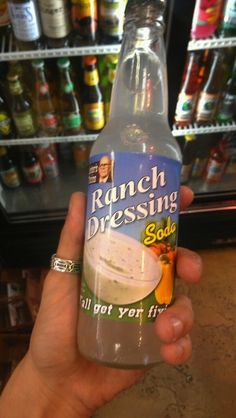 I like to dip my carrot cake in my ranch dressing soda. Or my sandwich cake!! Ewwww!!!