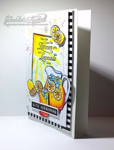 Claudia's Karteria: Gute Besserungs-Limonade | Get well limonade Claudia S, Get Well, I Card, Blog, Lemonade, Boxes, Bricolage, Handmade, Creative