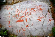 Ancient Rock Carving in Alta, Norway