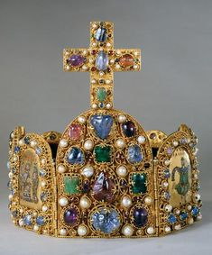 Imperial Crown of the Ottonian dynasty, made in Germany, 2nd half of the 10th century to the early part of the 11th century
