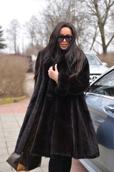 NEW MINK FUR SWINGER COAT CLASS OF SABLE CHINCHILLA FOX LONG JACKET PONCHO BLACK | Clothes, Shoes & Accessories, Women's Clothing, Coats & Jackets | eBay!