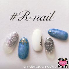 ネイル デザイン 画像 1525981 白 青 スモーキー デニム 変形フレンチ ワンカラー ネイルシール アンティーク 春 夏 梅雨 チップ ハンド ミディアム Western Nails, Self Nail, Pretty Nail Art, Fabulous Nails, Easy Nail Art, Blue Nails, Nail Arts, Nail Inspo, Nails Inspiration