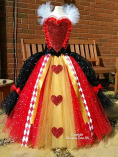 Queen of Hearts Inspired Super Sparkly Tutu Dress-Birthday, Party, Photo Prop, Pageant, Fancy Dress, Alice in Wonderland by BloomingTutusUK on Etsy https://www.etsy.com/listing/288107613/queen-of-hearts-inspired-super-sparkly