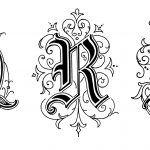 Gothic Letters 6 - Letters Q R S