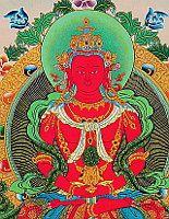 Amitabha - Buddha in Rot