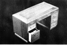 """Helen Dorsett (1987). Modern Pedestal Table, c. 1940s in 1/2"""" Scale. Complete plans, patterns, and instructions. In The Scale Cabinetmaker, Volume 10:4. Issue available as digital download from dpllconline.com. Per issue price: $6."""