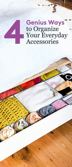 Check out these stylish DIY storage ideas for sunglasses, scarves, hats, and jewelry.
