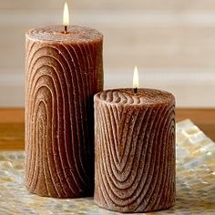 Brown Pillar candles - worldmarket.com