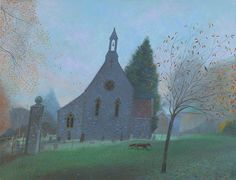 NICHOLAS HELY HUTCHINSON  The Little Church at Ashmore Oil on canvas 20 x 26 ins £4,050
