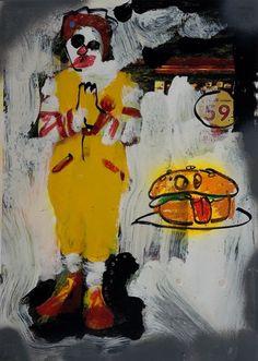 Peter Klashorst 'Paul Kostabi like' Hamburger Clown Mcdonalds…