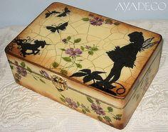 Fairy box - decoupage referencia decoracion con siluetas