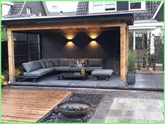 Betonwand auf der Veranda / Garten / Terrasse / Dach Concrete wall on the veranda / garden / terrace / roof, wall roof Backyard Patio Designs, Pergola Patio, Backyard Landscaping, Gazebo, Patio Stone, Patio Privacy, Flagstone Patio, Concrete Patio, Patio Table