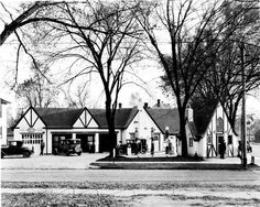 Deakins Service Station   1928: Pictured is the C.O. Deakins Service Filling Station at Water Street and Grand Avenue.