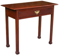 A Chippendale Mahogany Side Table; Baltimore Or Annapolis, C.1780;  Essentially A Small Card Table In Size And Proportion, Itsu0027 Adherence To  Simpler George ...
