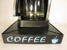 Coffee Overflow Deck Station with the words Coffee applied in vinyl