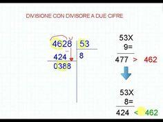 Divisione con divisore a due cifre MGP - YouTube Map, Words, Youtube, Maps, Youtubers, Horse, Youtube Movies
