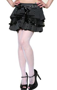 Living Dead Souls Gothic Pinstripe Skirt