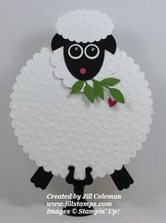 March 13, 2014 Jill Stamps: Too Much Cute! Stampin' Up! Punch Art Sheep