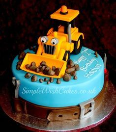 """Scoop"" from Bob the Builder Cake"