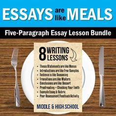 Students need to learn the rules in order to break them. Teach students about five paragraph essay structure with this bundle of lessons, ready to use before or during ANY essay assignment (or before standardized testing!).  Each lesson is intended to be concise and occur in one class period.