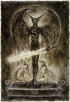 the labyrinth tarot luis royo devil - Google Search